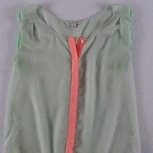 American Eagle Outfitters Seafoam Green & Coral